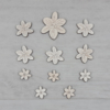 Kép 1/2 - Frézia virág dekor csomag - 11 db-os, natúr