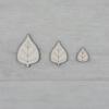 Kép 2/2 - Levél dekor csomag - 11 db-os, natúr