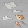 Kép 1/3 - Csigák, hosszúkás dekor csomag - 3 db-os, natúr