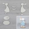 Kép 1/2 - Nyuszi lány kreatív csomag - kicsi, talpas, 7,9x15,3cm, natúr