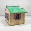 Kép 9/10 - Tündérház kreatív csomag - tündérlak, 15,7cm, natúr