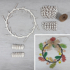 Kép 1/3 - Őszi kopogtató kreatív csomag - kb. 28cm, natúr