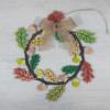 Kép 3/3 - Őszi kopogtató kreatív csomag - kb. 28cm, natúr