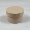 Kép 1/2 - Papír doboz tetővel - kerek, 8cm, 5cm magas, natúr