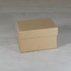 Kép 1/2 - Papír doboz tetővel - téglalap, 9,5x6,5cm, 6cm magas, natúr