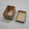 Kép 2/2 - Papír doboz tetővel - téglalap, 9,5x6,5cm, 6cm magas, natúr