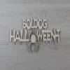 Kép 1/2 - Boldog Halloween-t felirat, pókos - 'Ghost', 21cm, natúr