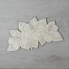 Kép 1/2 - Hibiszkusz levéllel, 3 virágos - 15cm, natúr