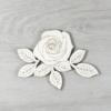 Kép 1/2 - Rózsa levéllel, 1 virágos - 10cm, natúr