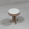 Kép 1/2 - Asztal, kerek - 4,8cm, natúr
