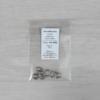 Kép 1/2 - Szerelőkarika, ovális - ezüst, 6x8x1mm, 10db