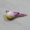 Kép 1/2 - Madárka, tollas - rózsaszín, csipeszes, 8cm