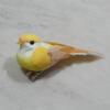 Kép 1/2 - Madárka, tollas - sárga, csipeszes, 8cm