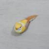 Kép 2/2 - Madárka, tollas - sárga, csipeszes, 8cm