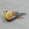 Kép 1/2 - Madárka, tollas - narancs, csipeszes, 8cm