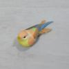 Kép 2/2 - Madárka, tollas - narancs, csipeszes, 8cm