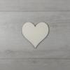 Kép 1/2 - Szív alakú tábla - 3cm, natúr