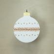 Karácsonyfa dísz - kerek, 8cm, fehér-arany