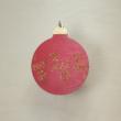 Karácsonyfa dísz - kerek, 8cm, piros-arany