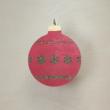 Karácsonyfa dísz - kerek, 8cm, piros-zöld