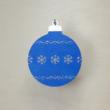 Karácsonyfa dísz - kerek, 8cm, kék-ezüst