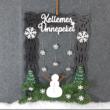 Karácsonyi ajtódísz kreatív csomag - hóember
