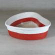 Köteles kosár, szív - 21,5x20,5cm, 7cm magas, piros