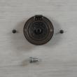 Foggantyú, kerek, csavarokkal - antik, 36mm, 1 szett/csomag