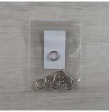 Szerelőkarika - ezüst, 10x1mm, 10db