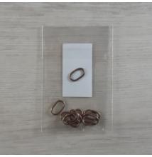 Szerelőkarika, ovális - vörösantik, 7,3x12x1,2mm, 10db