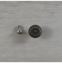 Gomb, csavarokkal - antik, 17mm, 1 szett/csomag