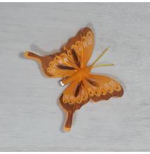Lepke - narancs, csipeszes, 8cm