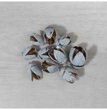 Vesszőkoszorú - szürke, 15cm