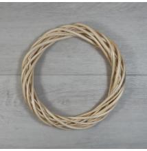 Vesszőkoszorú - natúr, 20cm