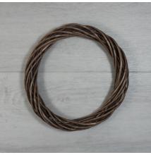Vesszőkoszorú - barna, 20cm