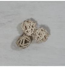 Vesszőlabda - natúr, 3cm, 3db