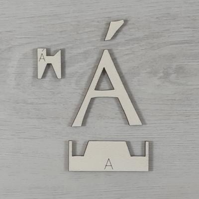Á' betű, illesztősablonnal - 3 cm, natúr