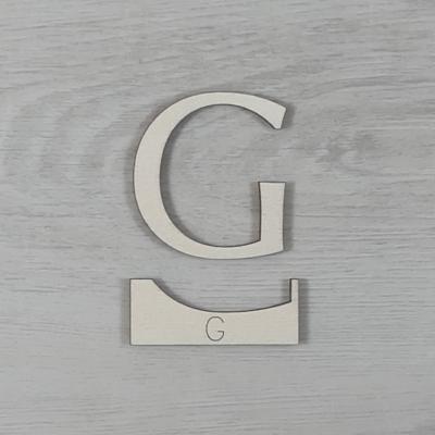 G' betű, illesztősablonnal - 3 cm, natúr