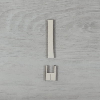 I' betű, illesztősablonnal - 3 cm, natúr