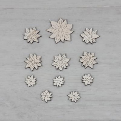 Orbáncfű virág dekor csomag - 11 db-os, natúr