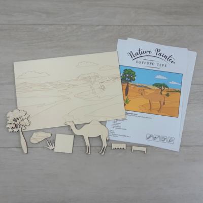 Egypúpú teve - Nature Painter kifestő csomag, 30x20cm