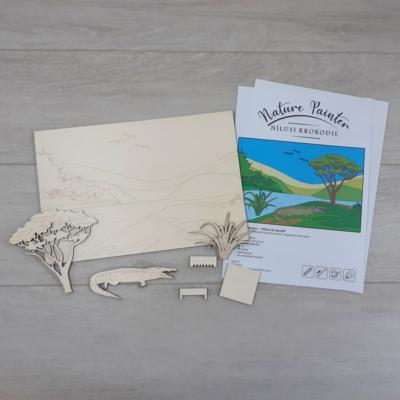 Nílusi krokodil - Nature Painter kifestő csomag, 30x20cm