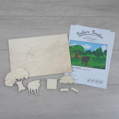 Vaddisznó - Nature Painter kifestő csomag, 30x20cm