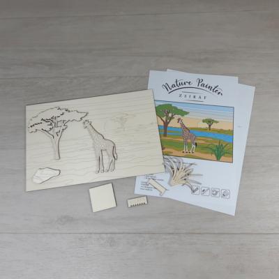 Zsiráf - Nature Painter kifestő csomag, 30x20cm
