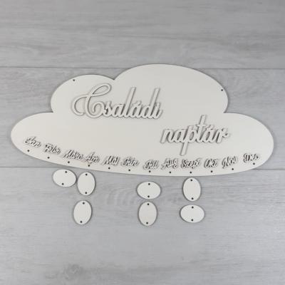 Családi naptár kreatív csomag - felhő, Cloe