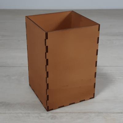 Doboz - 10x10cm, 15cm magas, festett