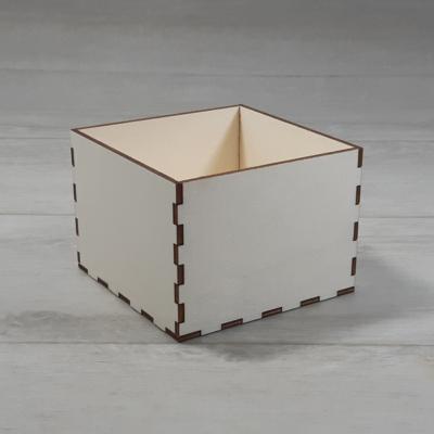 Doboz - 11,5x11,5cm, 8cm magas, natúr