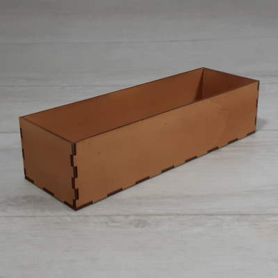 Doboz - 24,5x8cm, 6cm magas, festett