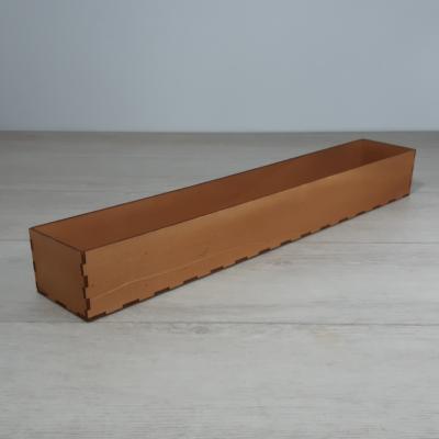 Doboz - 49x8cm, 6cm magas, festett