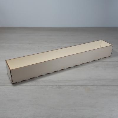 Doboz - 49x8cm, 6cm magas, natúr